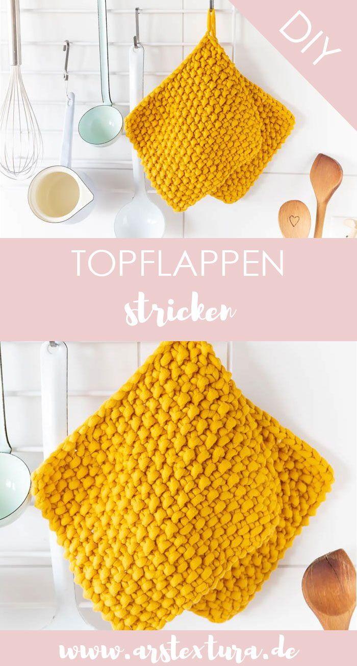 Photo of Strick Topflappen mit Perlenmuster ars textura – DIY Blog