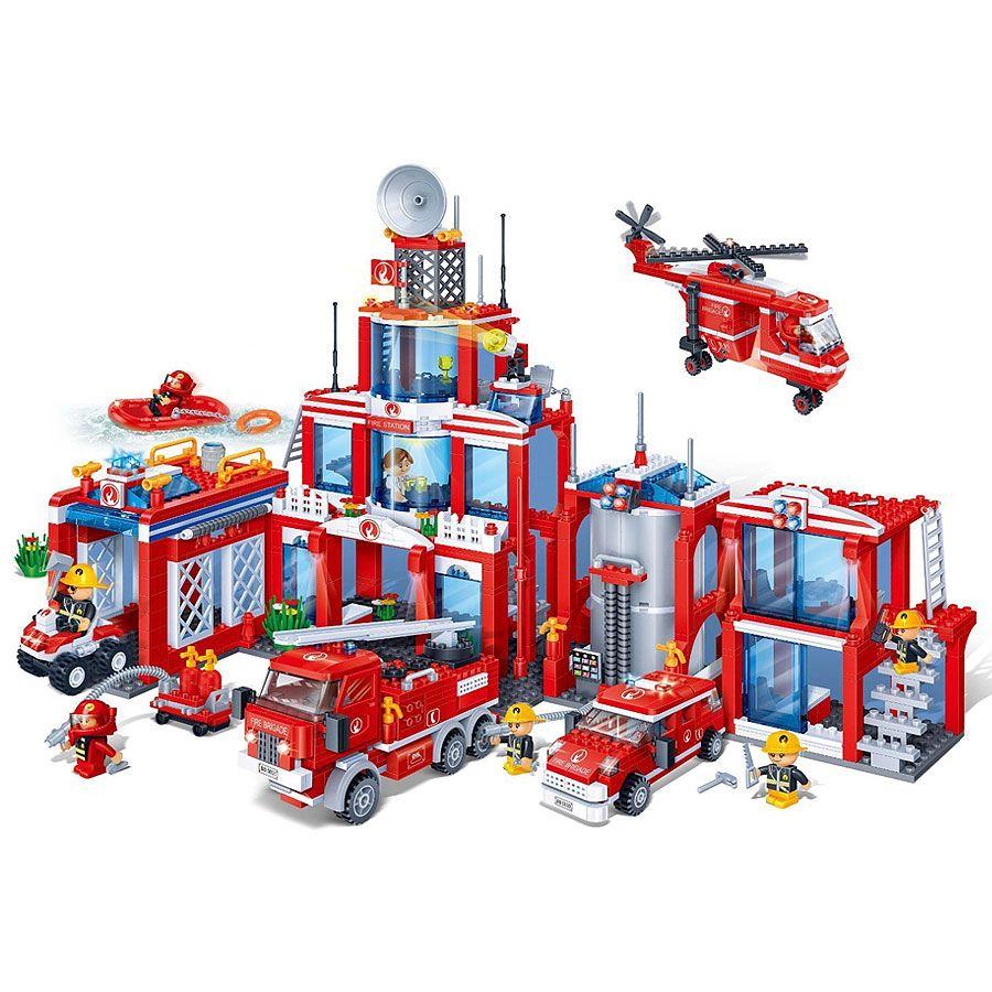 Banbao 8355 Big Fire Station Xl 1285pcs Building Blocks Baobao