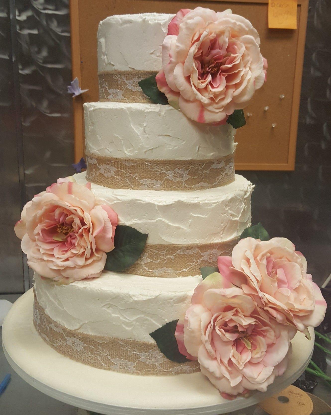 Burlap wedding cake | Burlap wedding cake, Burlap wedding