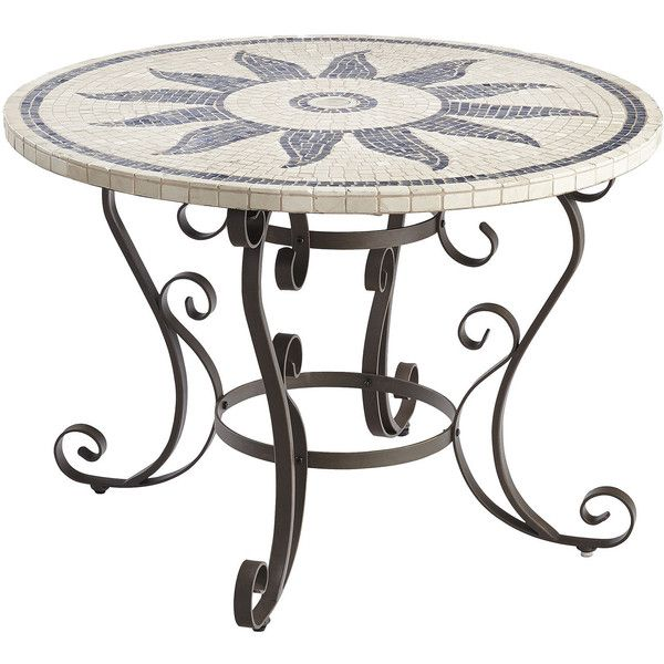 pier 1 imports multi-colored esenia mosaic round dining table (765, Esstisch ideennn