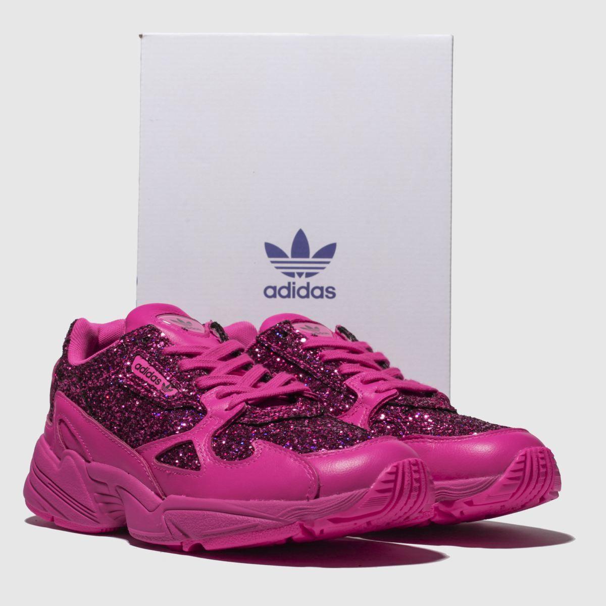adidas falcon rosa glitter
