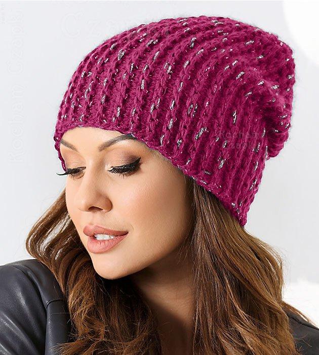 Czapka Damska Smerfetka Zimowa Ciemno Rozowa Alondra Rozm 56 58 Cm Czapki Damskie Sklep Kocham Czapki Knitted Hats Knitting Fashion
