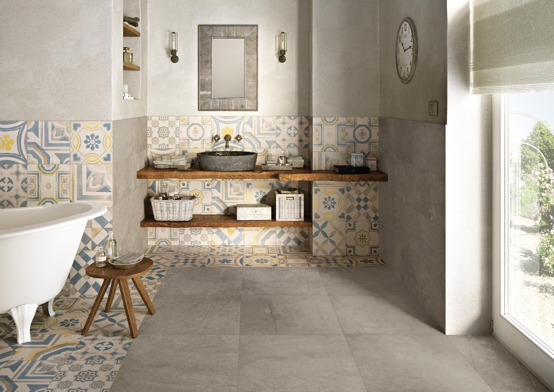 Cementine cold von keope wohnen bathroom tiles und flooring