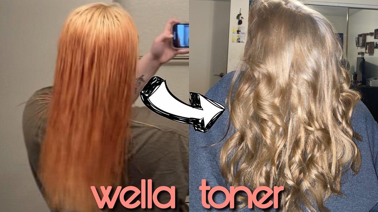 Toning Orange Hair With Wella T14 050 In 2020 Tone Orange Hair Color Correction Hair Toner For Orange Hair
