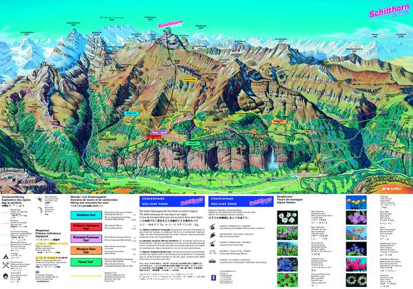 Schilthorn Summer Trail Map Switzerland Pinterest Switzerland