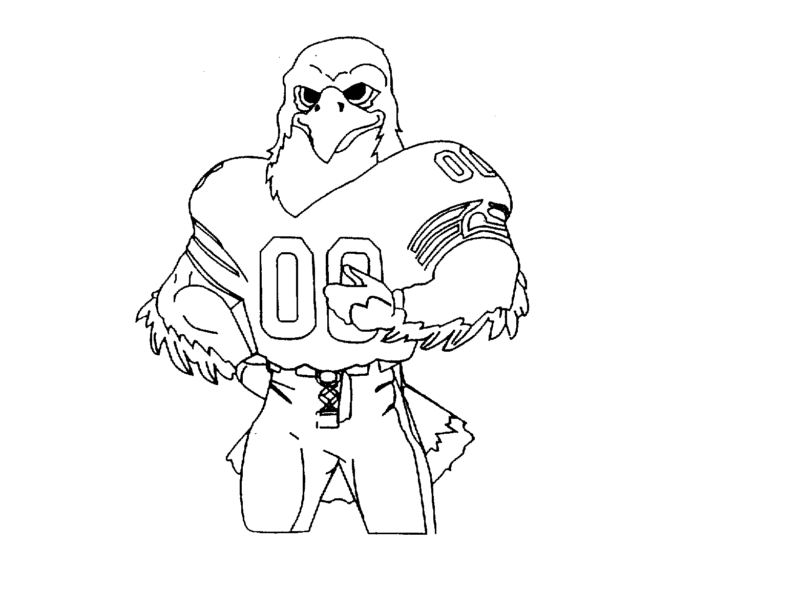 trademark image seattle seahawks coloring page  football