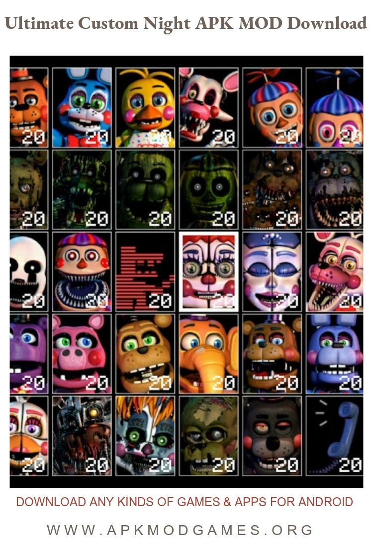 Ultimate Custom Night Apk Mod Free Purchase V1 0 2 Android Game Download Custom Android Games Night