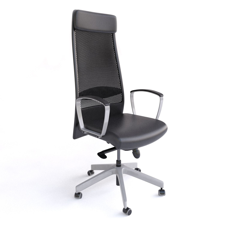 Ikea Markus Office Chair 3d Max 3d Model Ikea Markus Chair