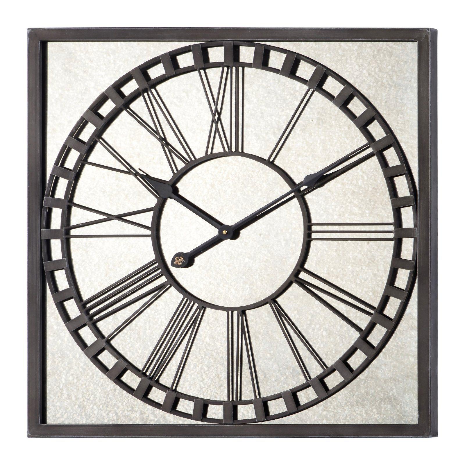Pin By Eliana Brown On Sara S Clock Wall Wall Clock Metal Wall Clock Square Clocks
