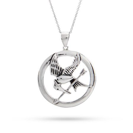 Movie inspired sterling silver mockingjay pendant shiny things movie inspired sterling silver mockingjay pendant mozeypictures Images