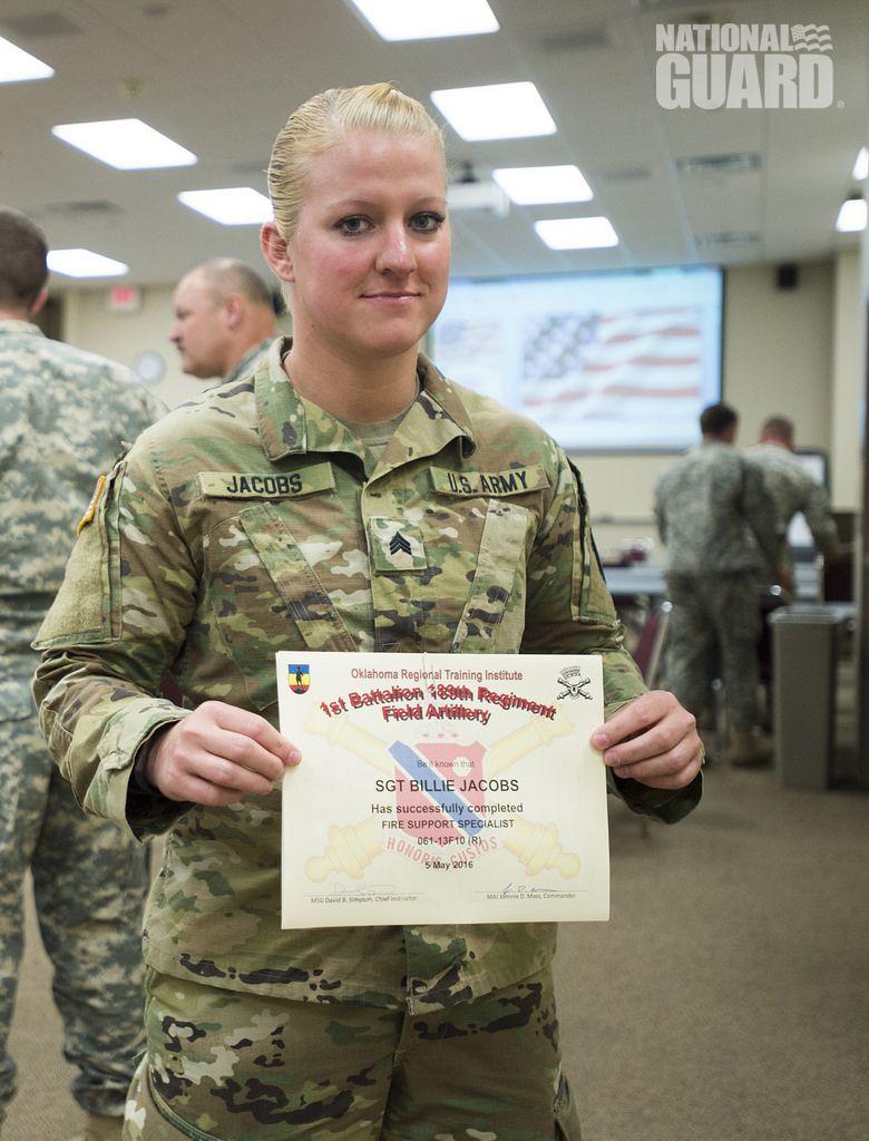 Kentucky Guardsman Sgt Jacobs Graduates As A Fire Support