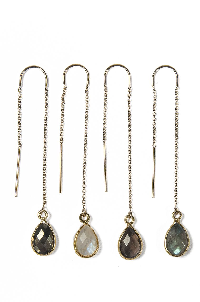 Choice of Pyrite, Moonstone, Smoky Quartz, or Labradorite.