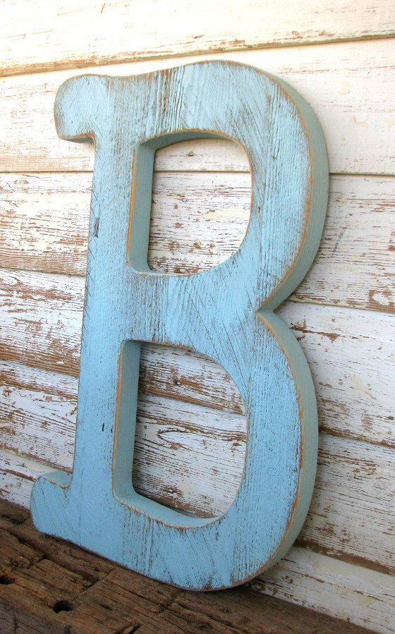 Big Barn Wood Letter B Sign Wall Hanging By Secondnaturewoodwork