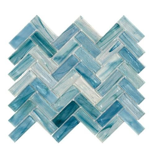Floor And Decor Pool Tile Neptune Herringbone Matte Glass Mosaic  Herringbone Mosaics And