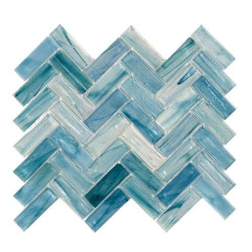 Neptune Herringbone Matte Glass Mosaic Mosaic Glass Glass