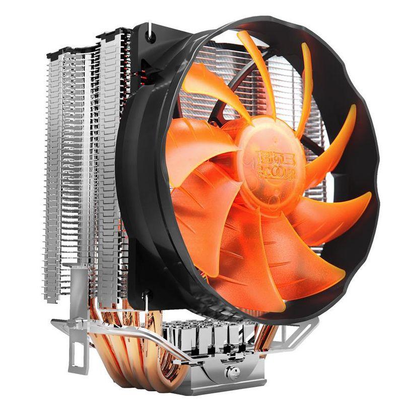 Pccooler S90f 4 Pin 4 Cobre Tubos De Calor Led Cpu Cooler