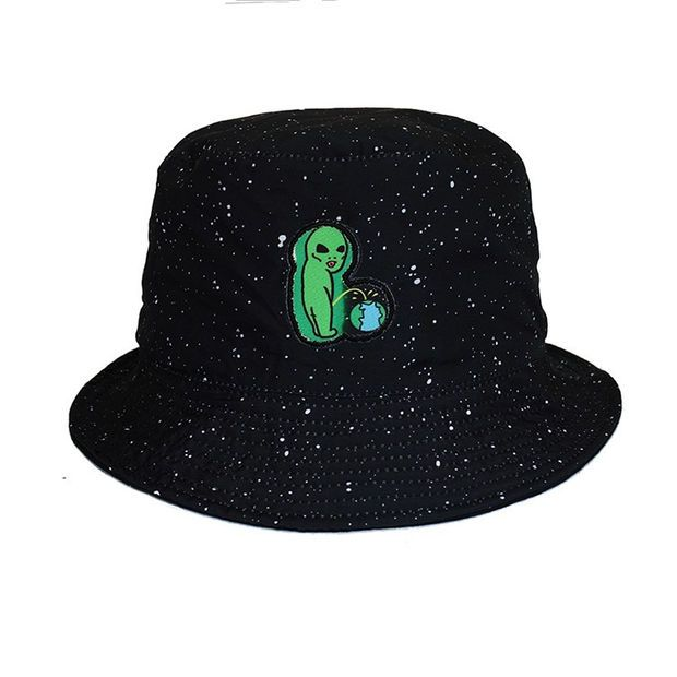 RIPNDIP Lord Alien Earth Sucks Black Bucket Hat  87341fc83cde