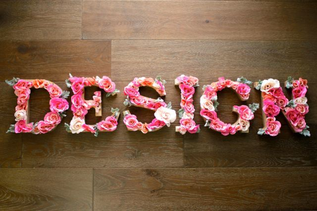 LOVE!! DIY: Rustic Letters With Flowers | Design Dazzle | Bloglovin'