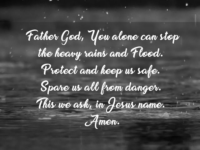 Prayer for Protection against Heavy Rains and Floods Sign of