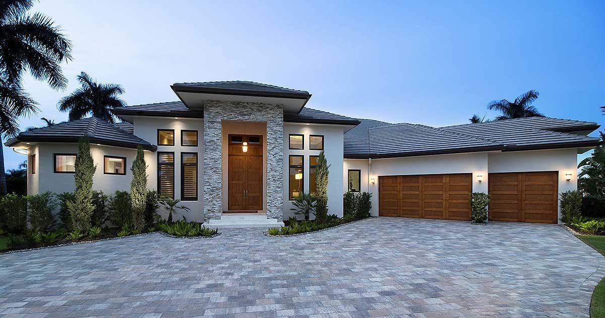 Plan 66379WE: High End Florida House Plan | Florida house ...