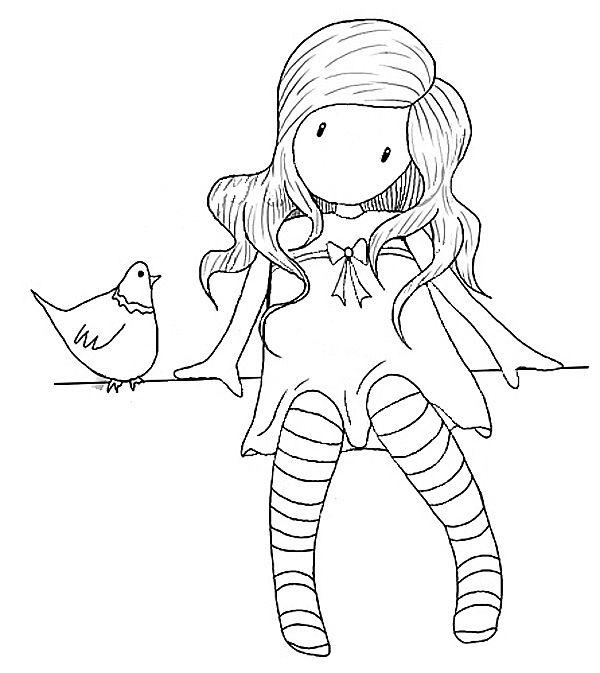 Dibujos De Gorjuss Santoro Para Colorear E Imprimir Gratis Bebe