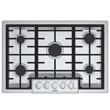 """Bosch 30"""" 800 Series Gas Cooktop - Stainless Steel"""
