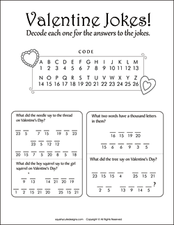 valentines day jokes for kids valentine riddles free printable party games puzzles - Free Kids Printable Activities