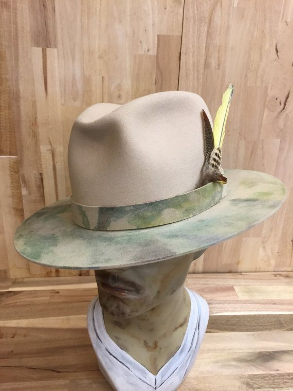hand-dyed beaver blend western mens fedora with custom by hatWRKS Sombreros  Hombre ba3747454f80
