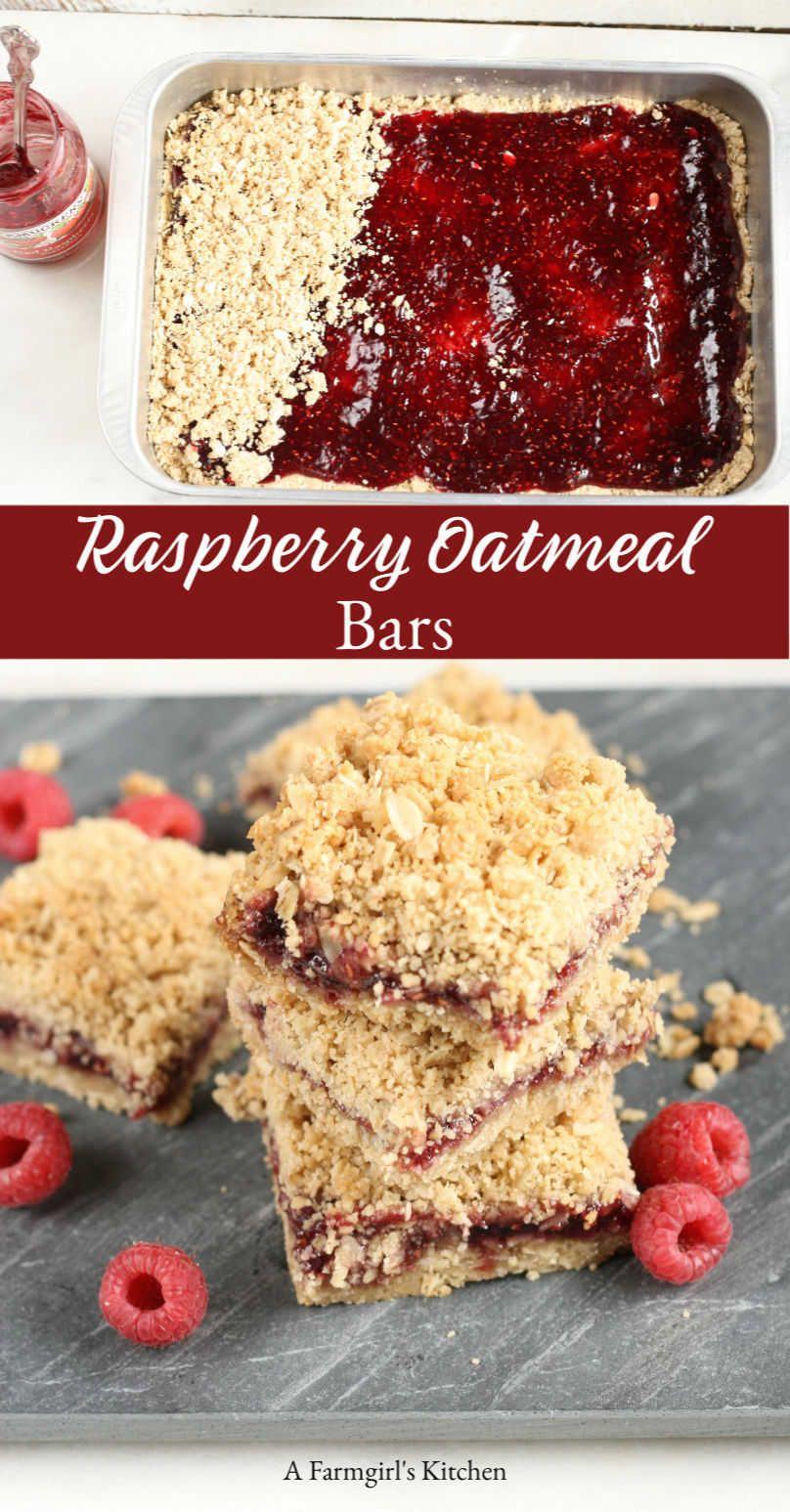BEST Raspberry Oatmeal Bars (Easy to make!)