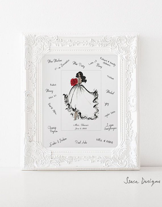 bridal shower guest book alternative bridal by ssasadesigns