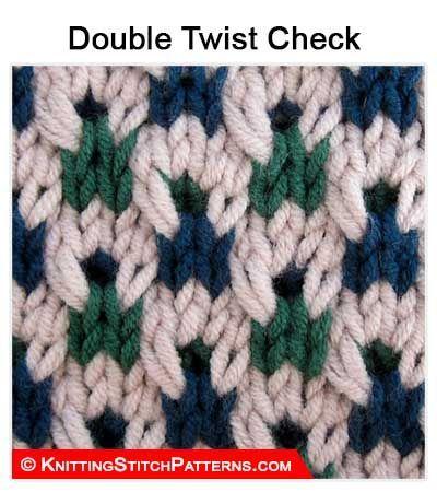 Knitting Stitch Patterns - Multi color stitch pattern: Double Twist ...
