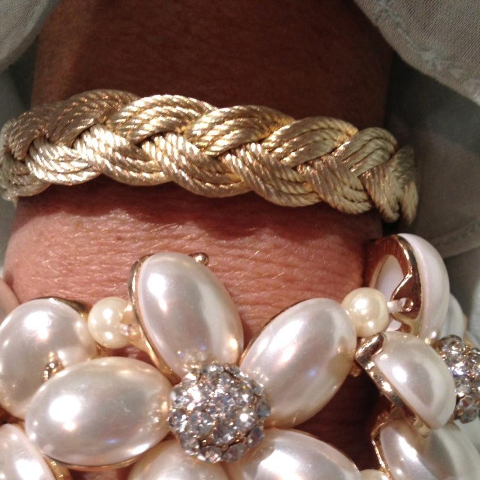 Gold rope bracelet arm party pinterest bracelets gold and