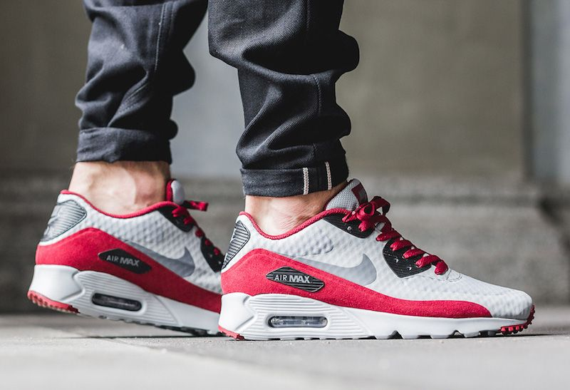 Nike Air Max 90 Ultra Essential Wolf Grey Team Red