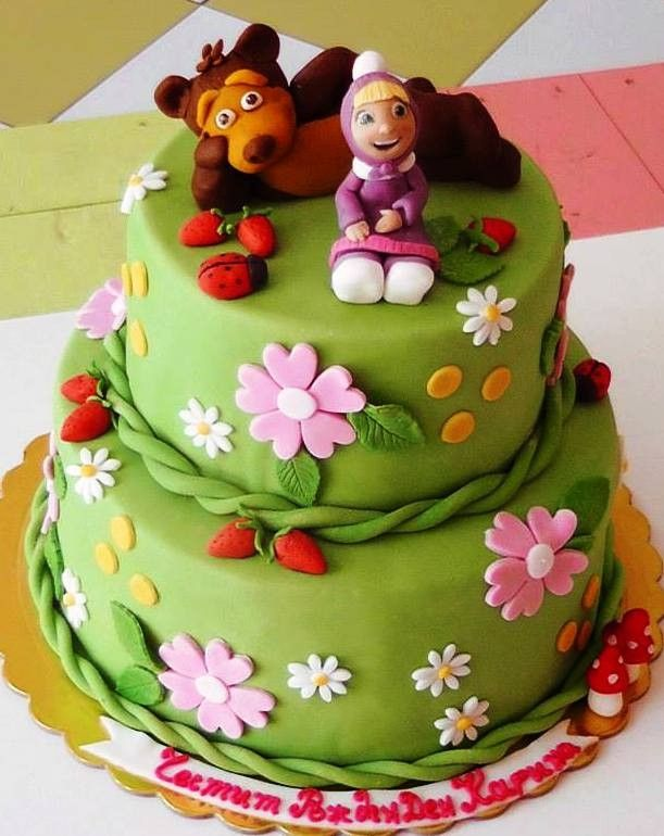 Masha and the bear cake Masha and the Bear Pinterest Bear