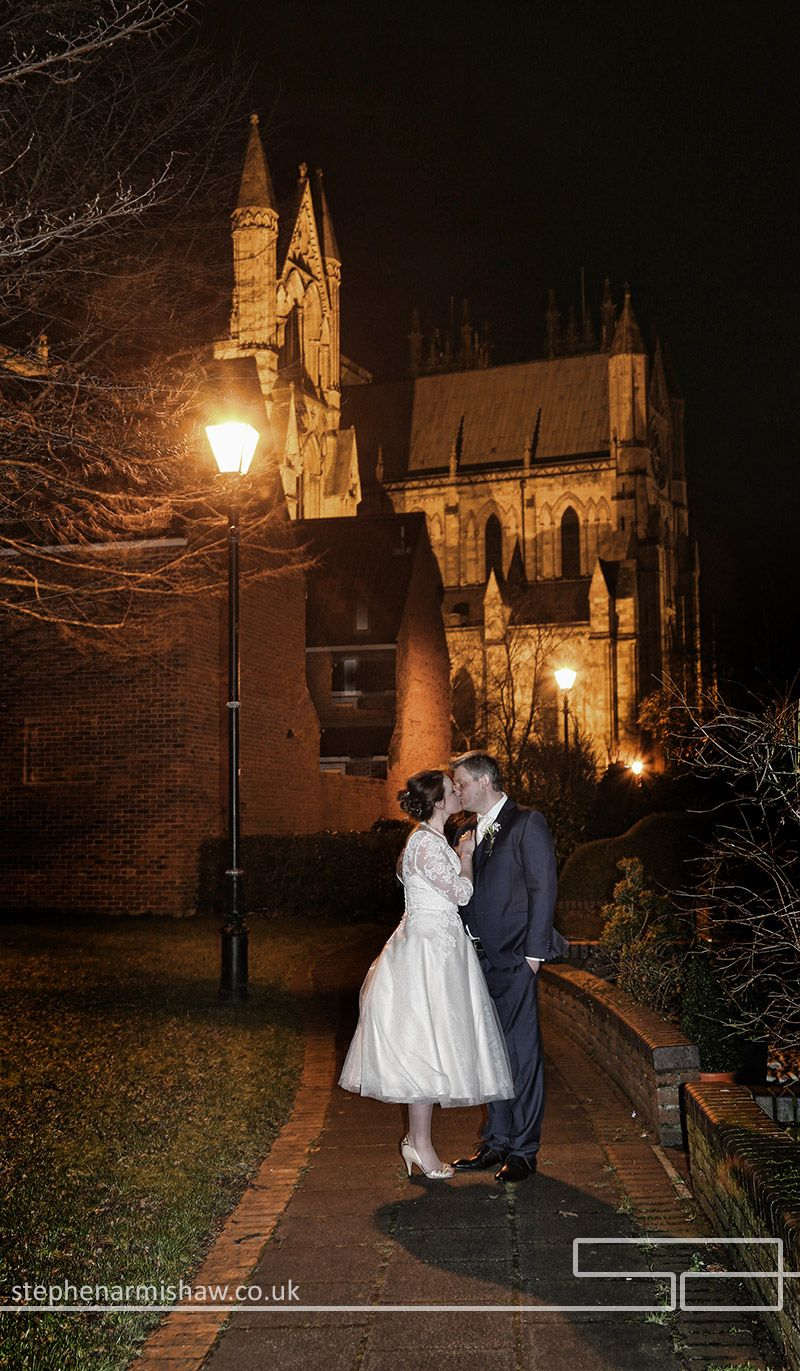 Stunning Evening Wedding Photography At The Beverley Minster By Top Local Photographer Stephen Armishaw Of