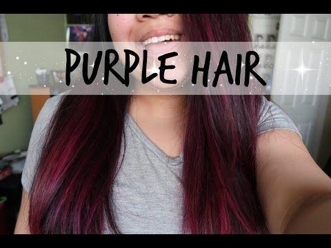 Dyeing My Hair Purple Arctic Fox Violet Dream On Dark Hair Youtube Fox Hair Dye Purple Hair Arctic Fox Violet Dream