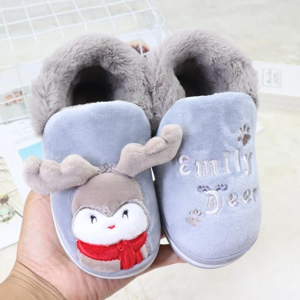 Infant Baby Toddler Boys Girls Casual Warm Slippers Indoor Home Shoes Booties UK