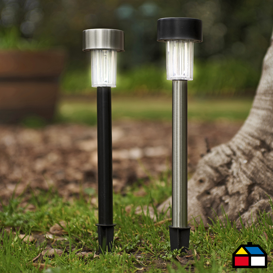 Sunny farol solar cilindro cl and solar for Faroles solares para jardin