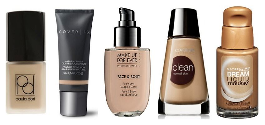 5 Best Water Based Foundations Herinterest Com Water Based Foundation No Foundation Makeup Best Makeup Products