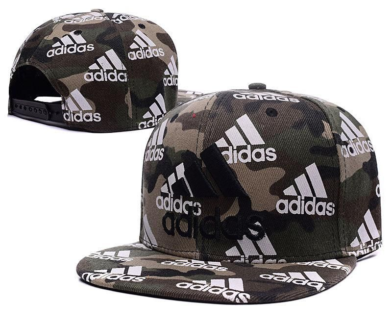 Mens Adidas Classic 3D Embroidered Logo Full Adidas Logo Printed Fashion  Snapback Adjustable Cap - Camo ac7418f57e5