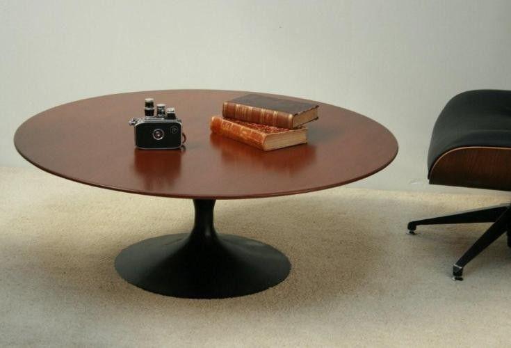 Ct82 Restored Saarinen Coffee Table Black With Wood Top 1 Coffee Table Table Furniture