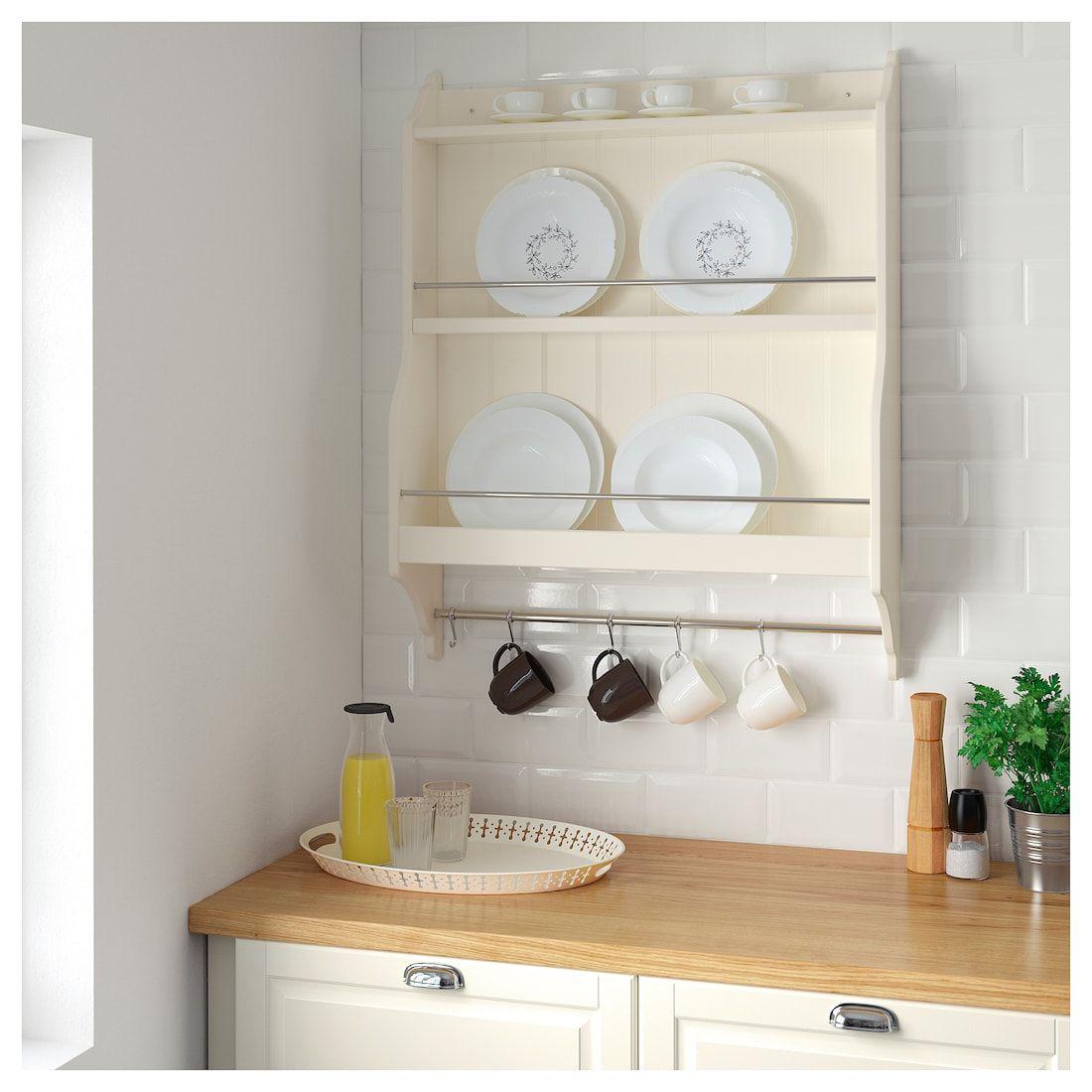Kupit Tornviken Polka Dlya Tarelok Belyj S Ottenkom Po Vygodnoj Cene V Internet Magazine Ikea Plate Shelves Shelves Kitchen Shelves