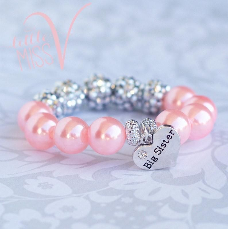 Big Sister Jewelry Big Sis Bracelet Big Sis Gift Baby Announcement idea New Baby New Big Sister Big Sister Bracelet Big Sister Bangle