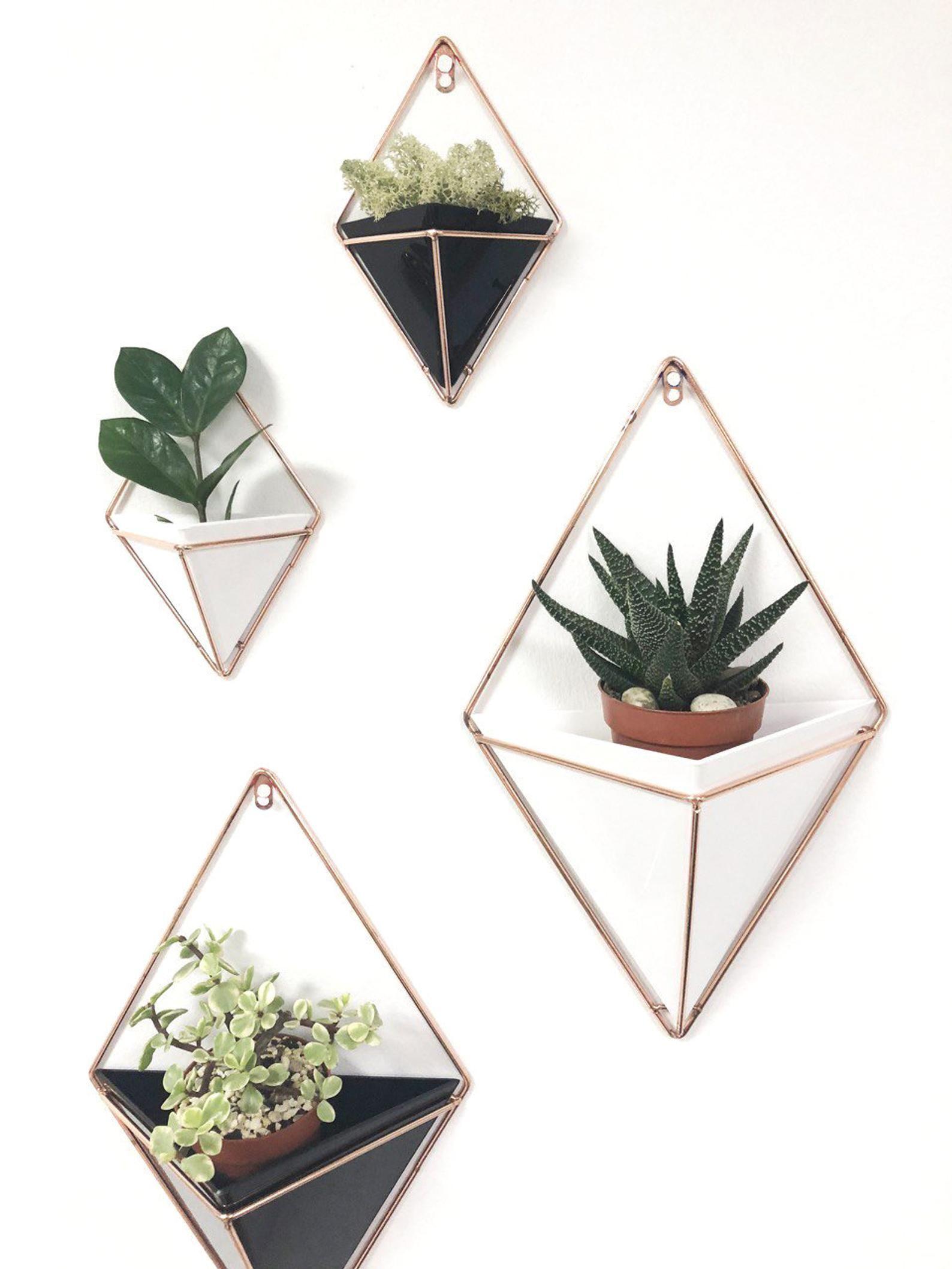 Geometric Wall Planter, Geometric Planter, Hanging Planter