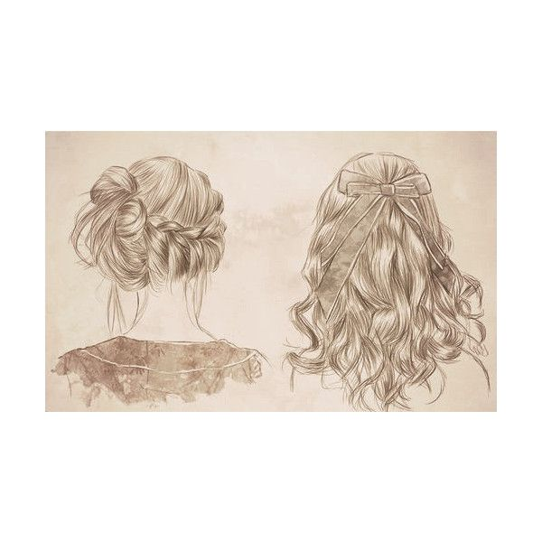 drawing art hair cute painting bow braid Sketch curled hair ❤ liked on Polyvore featuring pictures, fillers, hair, drawings, art, backgrounds, doodle and scribble