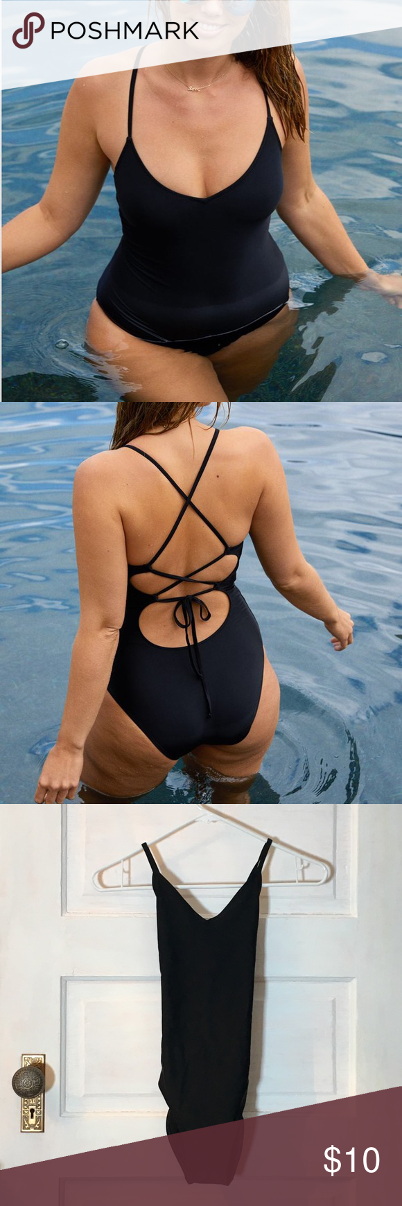 2367ee1272 🌻(aerie) one piece swimsuit Black one piece swimsuit with fun zig-zag  straps in the back. Straps can be tightened to best fit you! aerie Swim One  Pieces