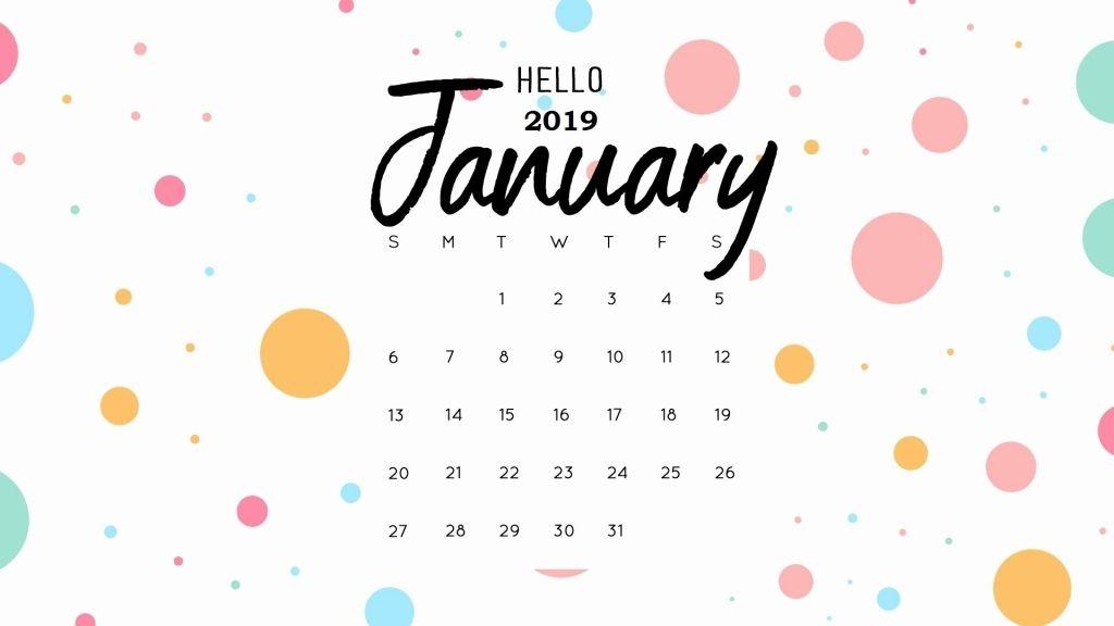 February 2019 Desktop Calendar Wallpaper Januar Kalender Hallo