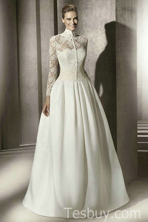 Timeless elegance with wedding gown http for Full sleeve lace wedding dress