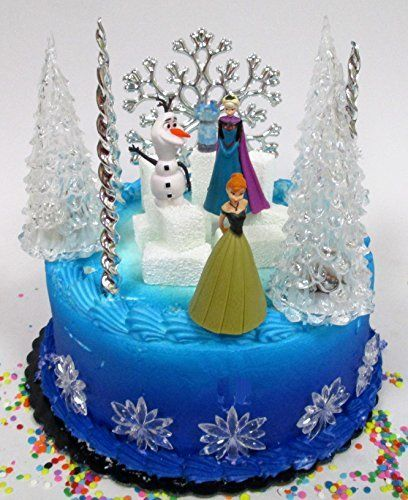 Cool Disneys Frozen Birthday Cake Kit Topper Featuring Elsa And Anna Funny Birthday Cards Online Inifodamsfinfo