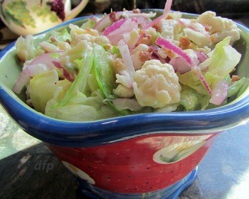 Potluck Califlower & Lettuce Salad Recipe | Lettuce salad ...